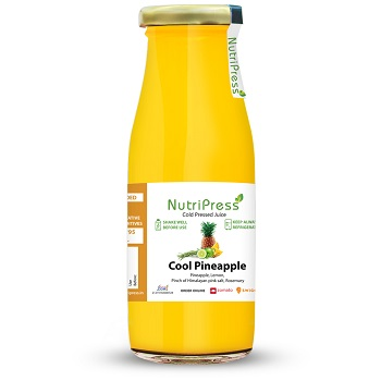 Nutripress Cold Pressed Juice Cool Pineapple 200 Ml