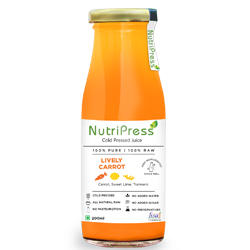Nutripress Cold Pressed Juice Lively Carrot 200 Ml