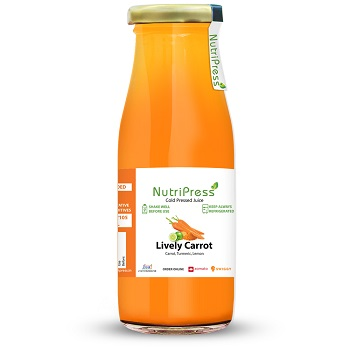 Nutripress Cold Pressed Juice Lively Carrot 250 Ml
