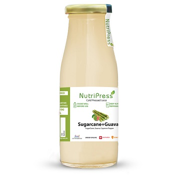 Nutripress Cold Pressed Juice Sugarcane+guava 200 Ml