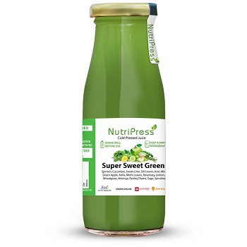 Nutripress Cold Pressed Juice Super Sweet Green 200 Ml