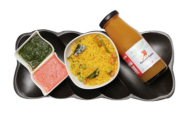 Poha Cooked In Pure Ghee + Cold Pressed Radiant Apple Juice Combo