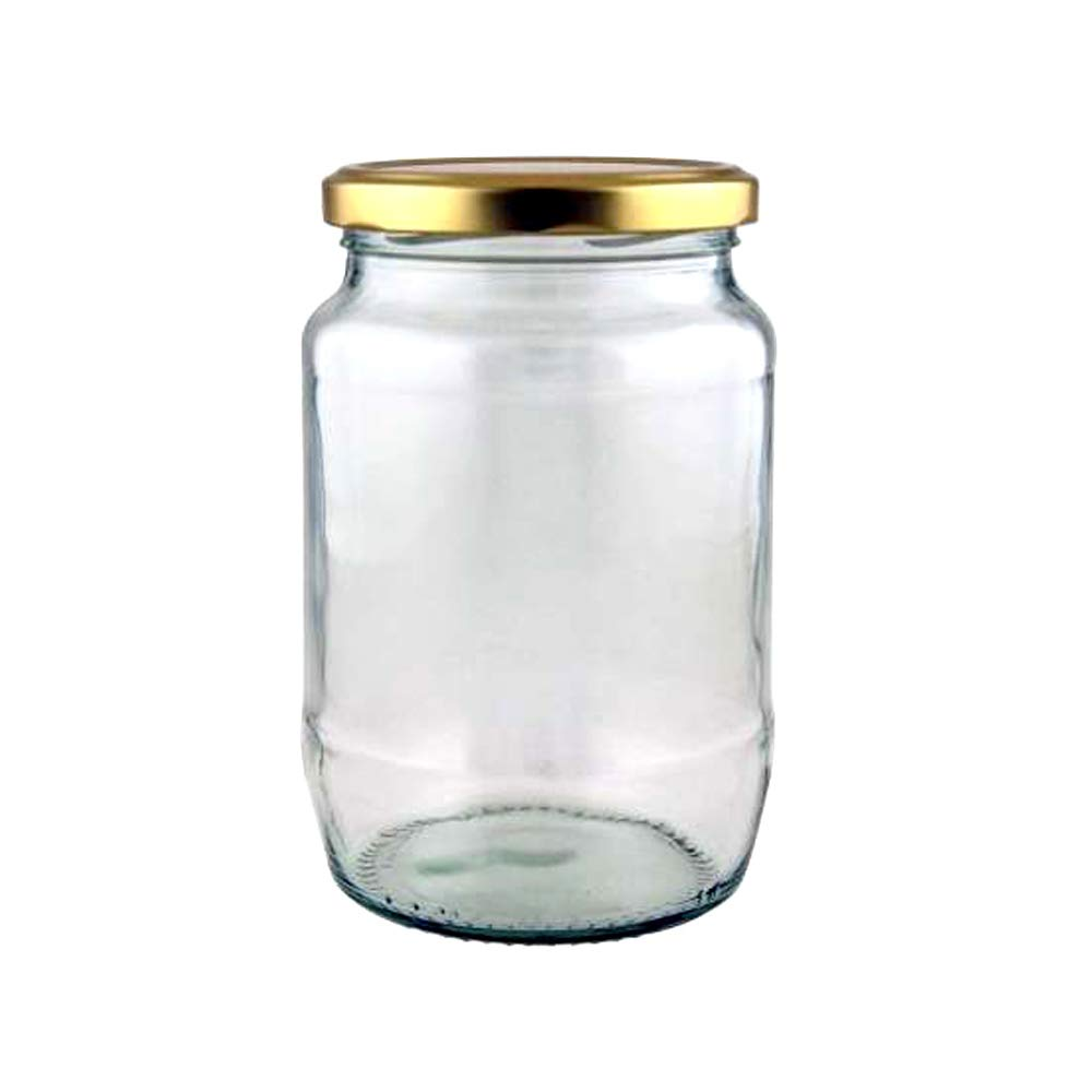 Superbazaar 750 Ml Round Glass Jar Container With Air Tight Cap For Home, Kitchen And Office - 1 Pc