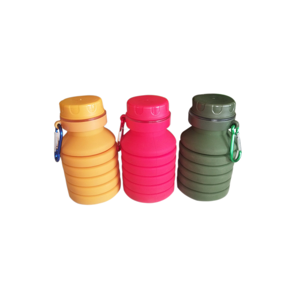 Goldtree Silicone Expandable And Foldable Drinking Water Bottle (multicolor) 450 Ml - 1 Pc