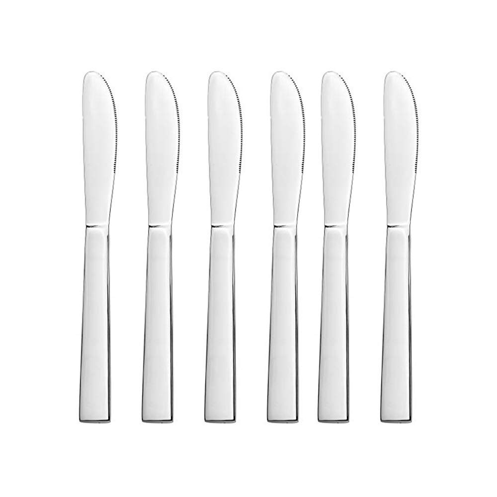 Goldtree (set Of 6 Pcs) Stainless Steel Butter Spreader, Cheese Knife, Bread Knife Set