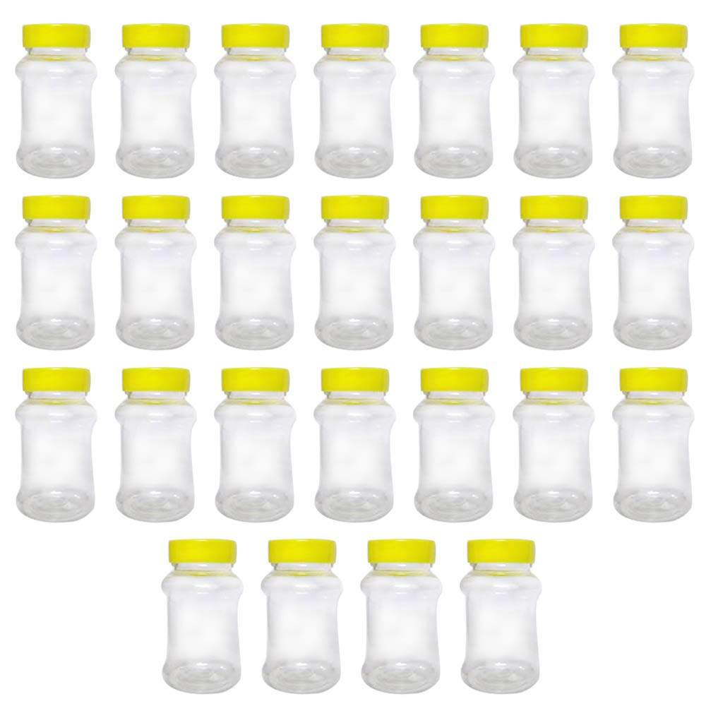 Superbazaar Honey, Juice, Milk & Oil Plastic Bottle With Cap 100 Gm, (set Of 25 Pcs)