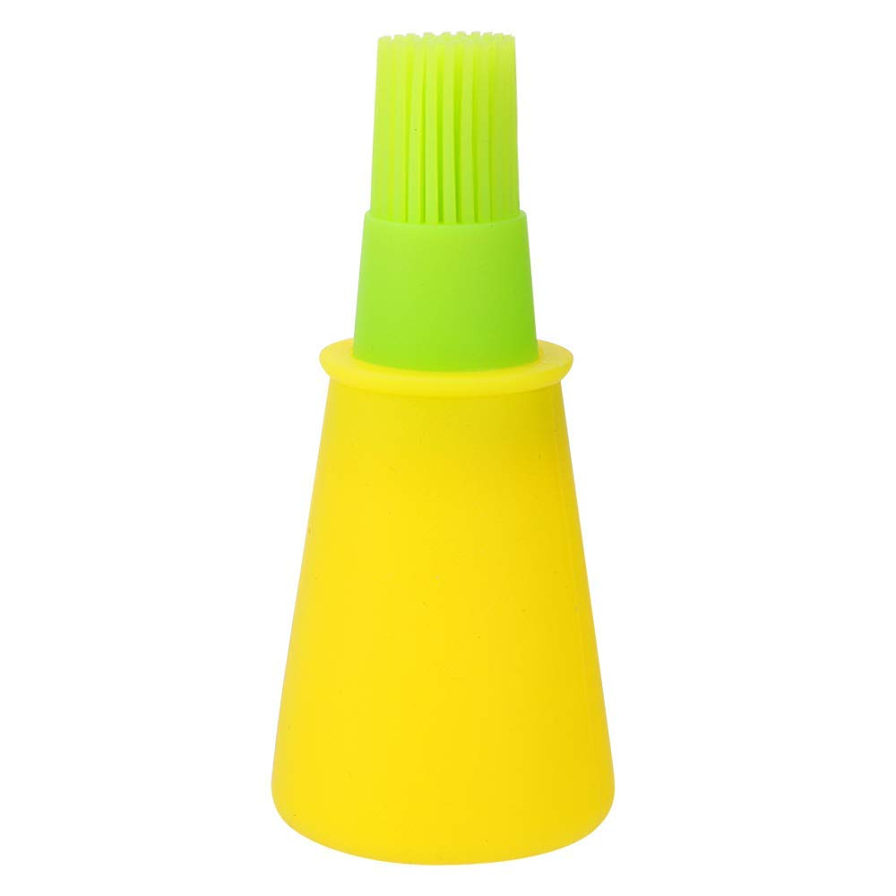 Goldtree High Quality Silicone Barbecue Basting Brushes Cooking Oil Storage Bottle With Brush - 1 Pc
