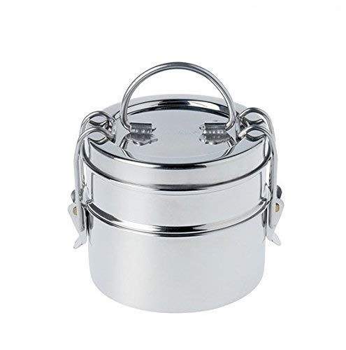 Superbazaar Stainless Steel Food Grade Lunch Box | Traditional Tiffin Box For School/office