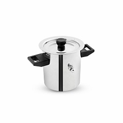 Superbazaar Stainless Steel Milk Boiler Double Handle Pot 1.5 L