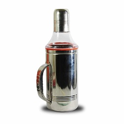 Superbazaar Stainless Steel Oil Dispenser For Kitchen 1000 Ml - 1 Pc