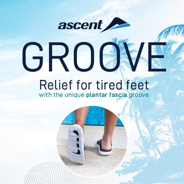 Groove Thong for Tired Sore Feet Plantar Fasciitis Footwear
