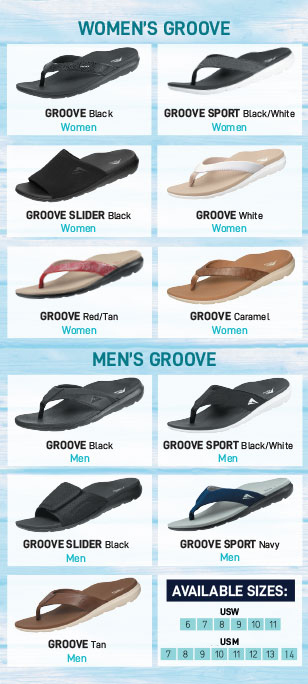 Relief for Tired Feet Groove Colour Range