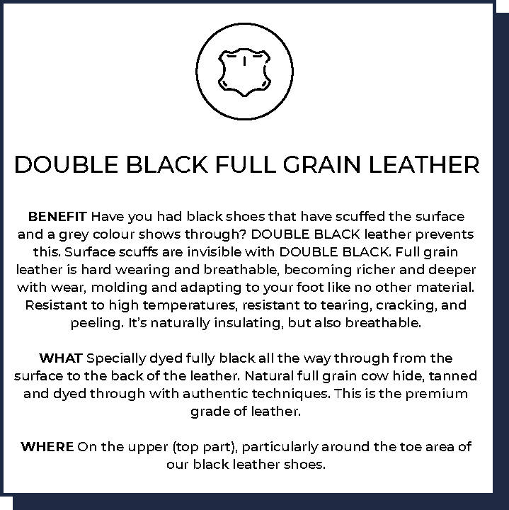 Double Black Full Grain Leather