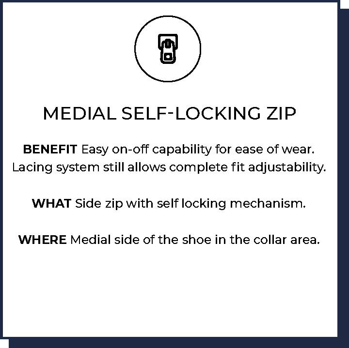 Medial Self-Locking Zip