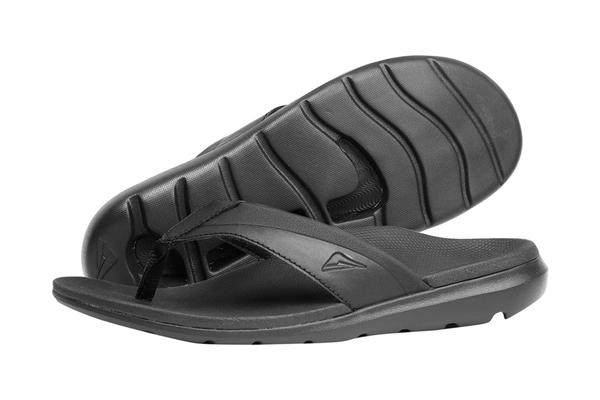 Groove sandal for plantar fasciitis
