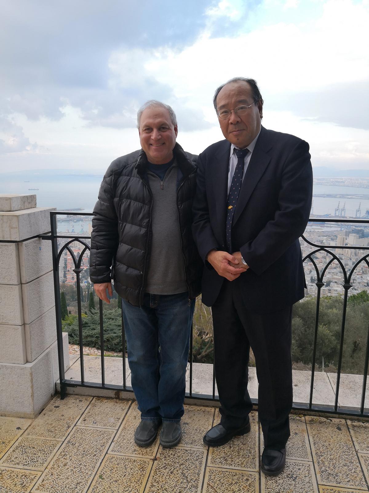 Prof. Dr. Masashi Watanabe and Prof. Yaron Har-Shai in Haifa, Israel, February 2019