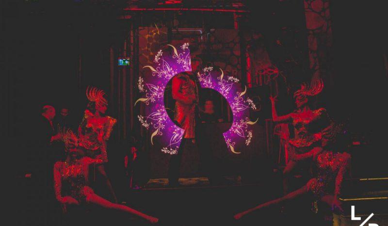 LED Feuershow mit LED Poi Indoor Feuershow buchen