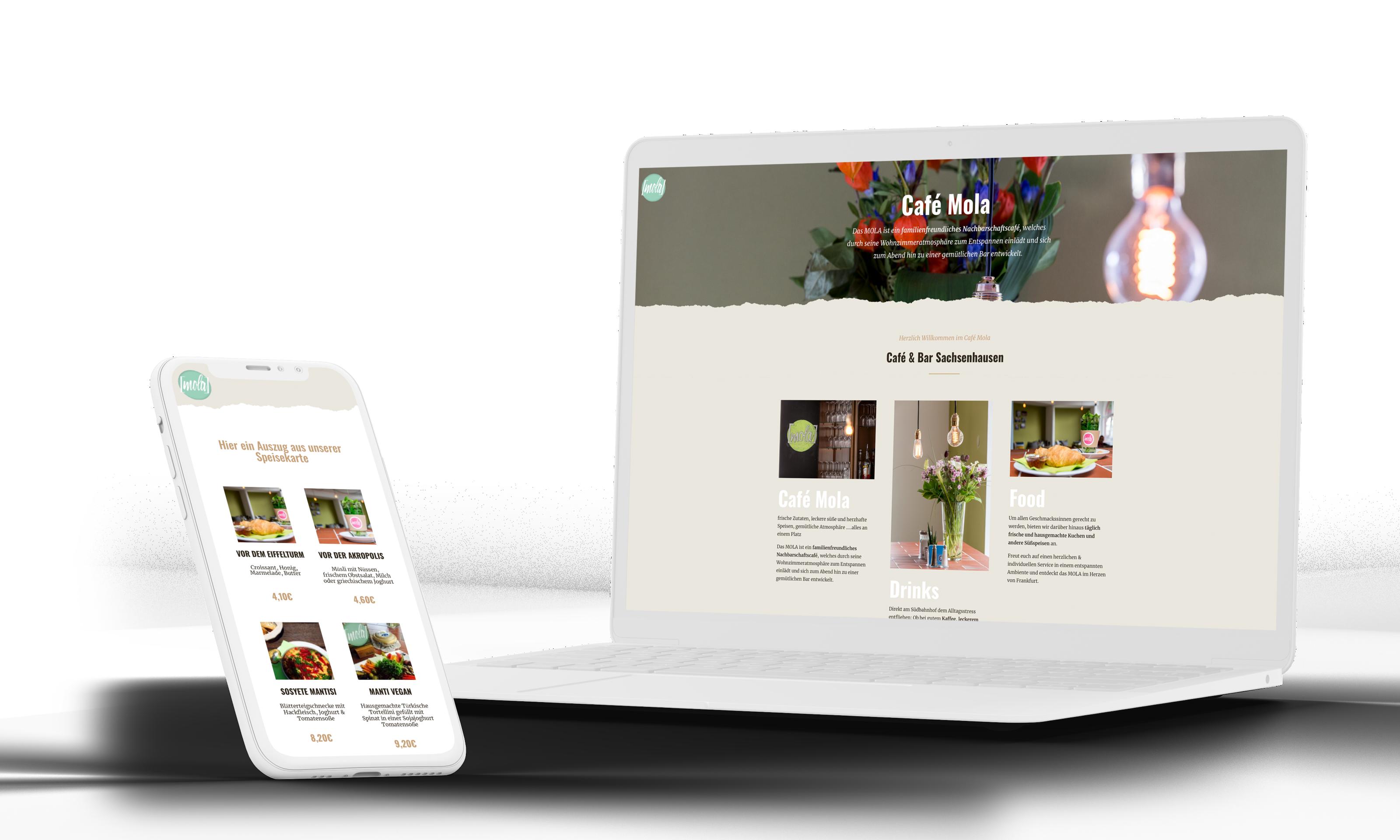 Cafe Mola Webdesign für Restaurant & Cafe