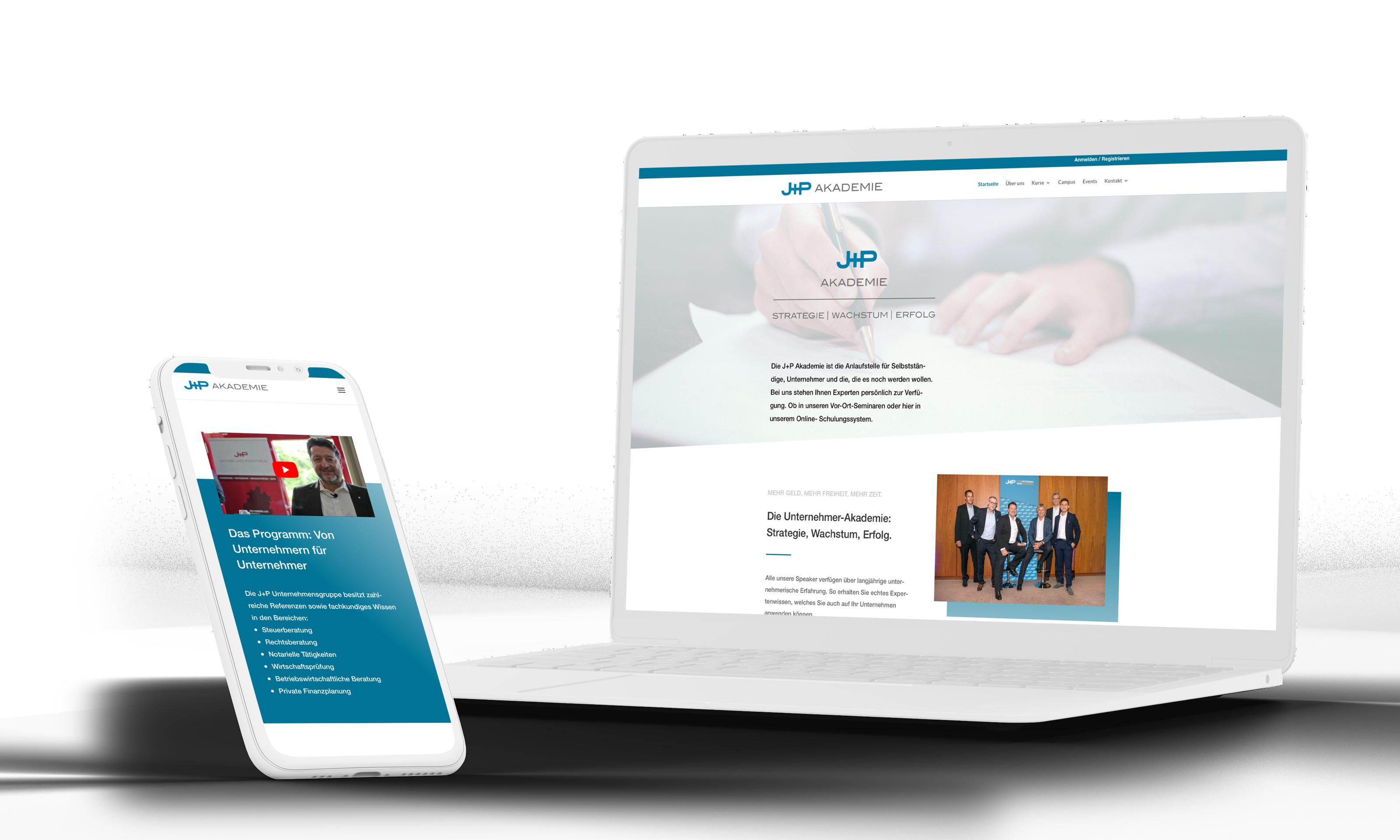 JP Akademie - Erstellung Online Schulungs Homepage