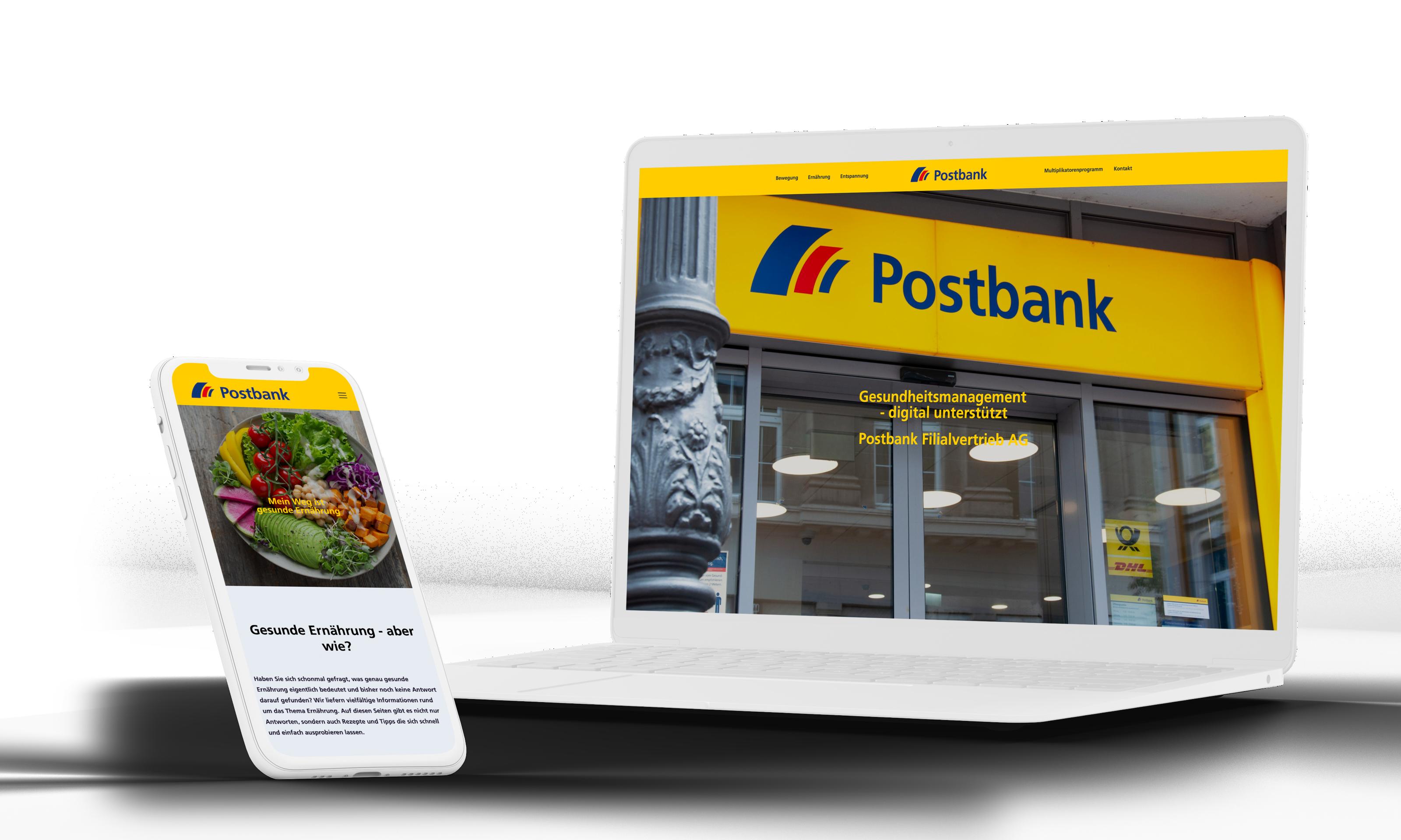 Postbank Webdesign und Schulungssystem Entwicklung