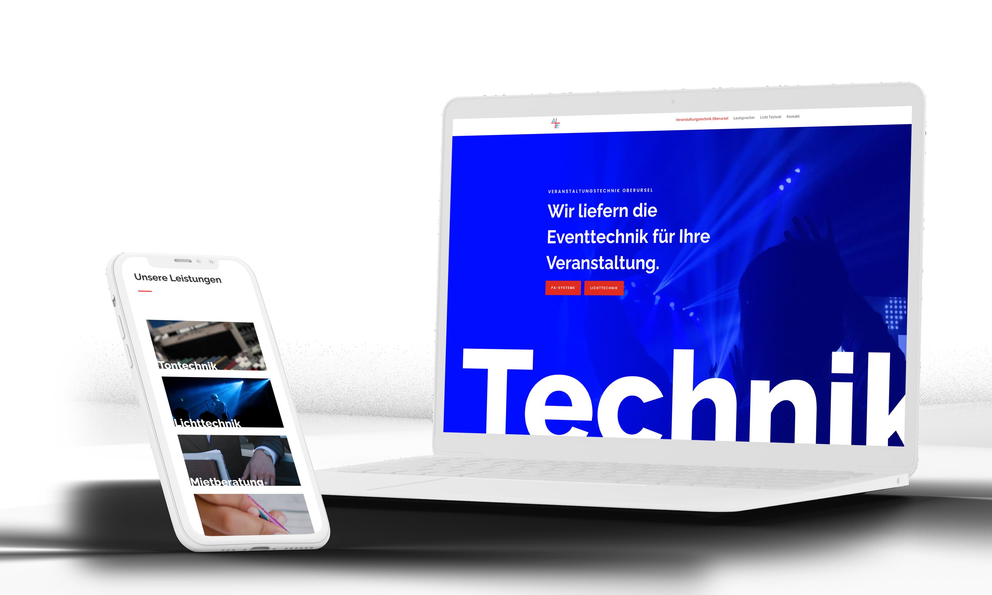 Webdesign Eventtechniker Oberursel