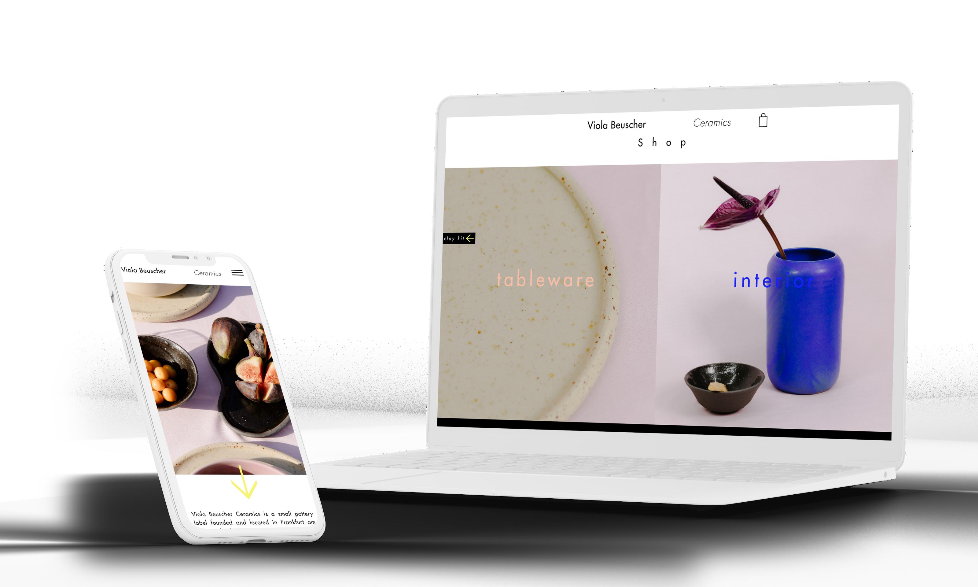 Webshop Entwicklung Woocommerce Agentur WordPress Viola Beuscher Ceramics