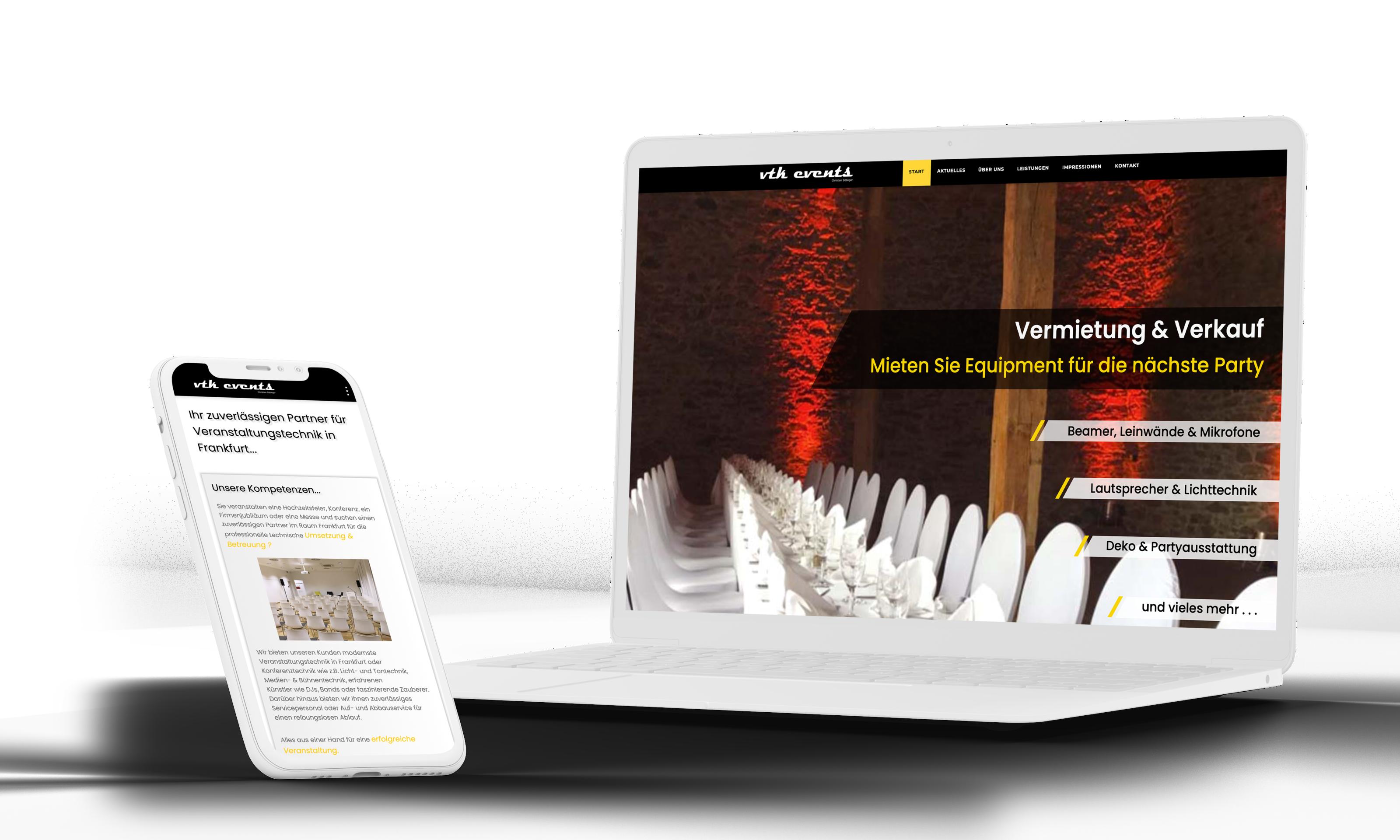 Website Eventdienstleister