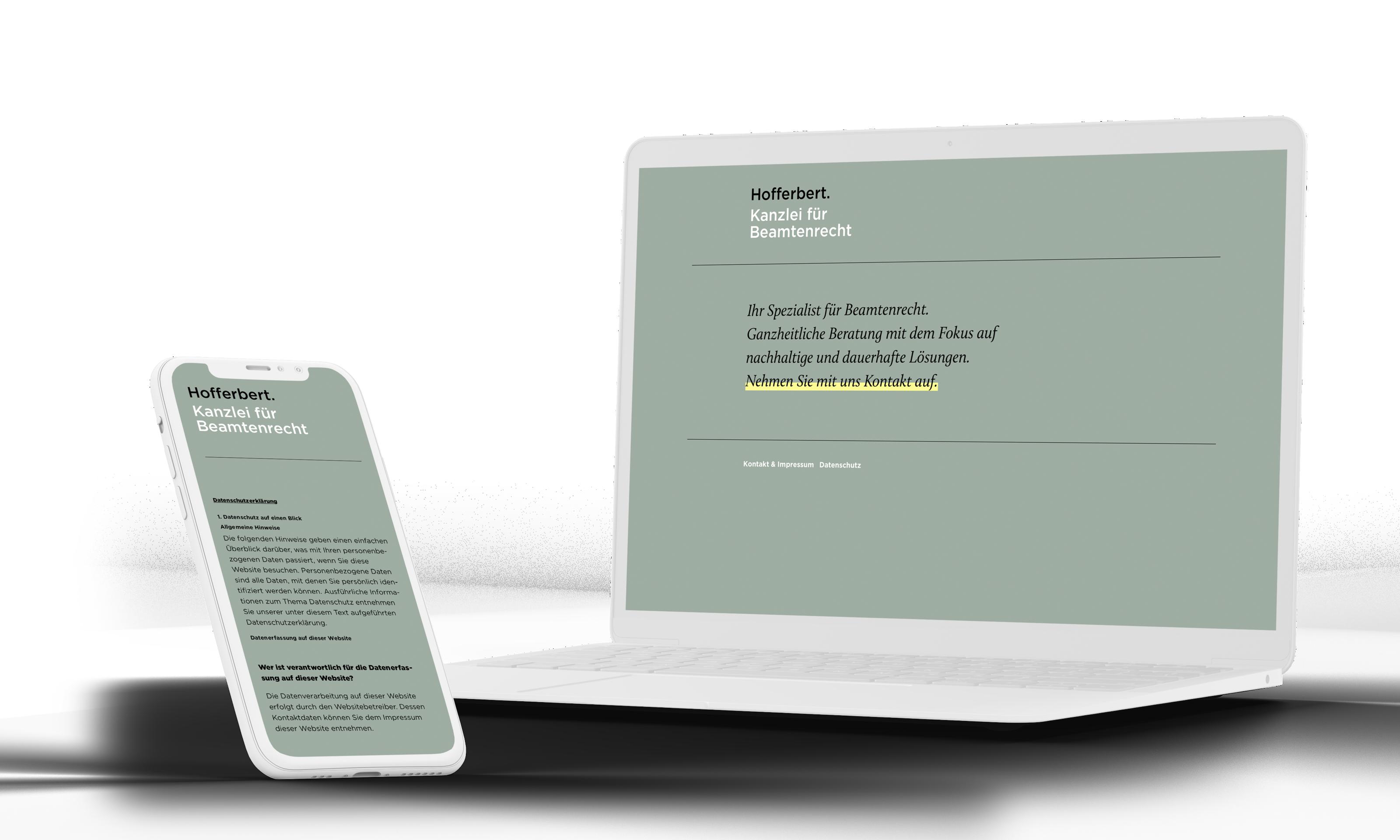 hofferbert Webdesign Kanzlei Anwalt
