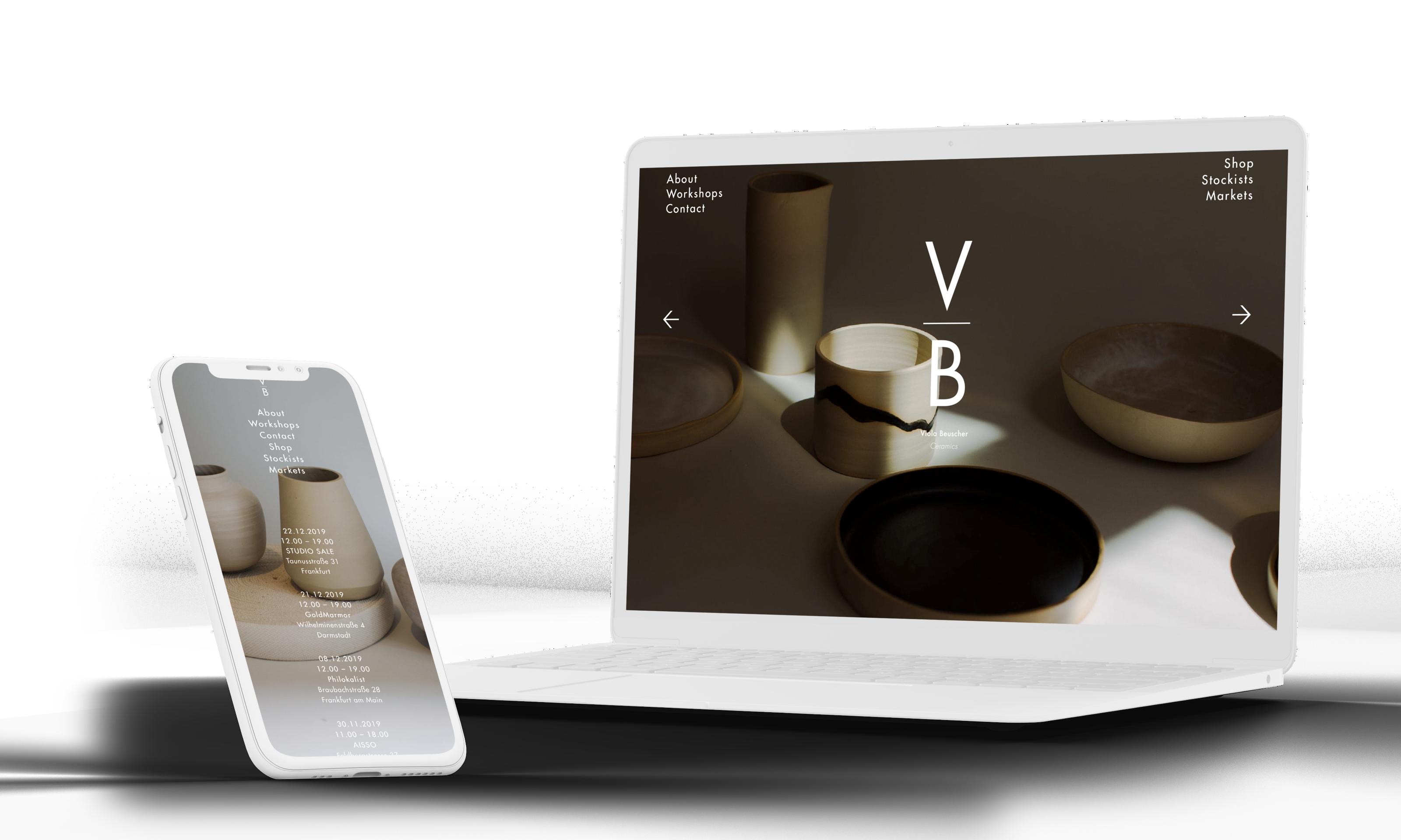 individuelles Webdesign Viola Beuscher Ceramics