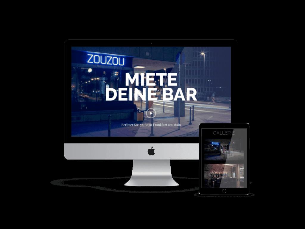 Webdesign Agentur Frankfurt ZouZou Bar