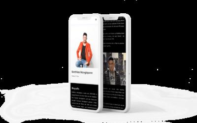 Webdesign Reality TV Star Matthias Mangiapane 2020