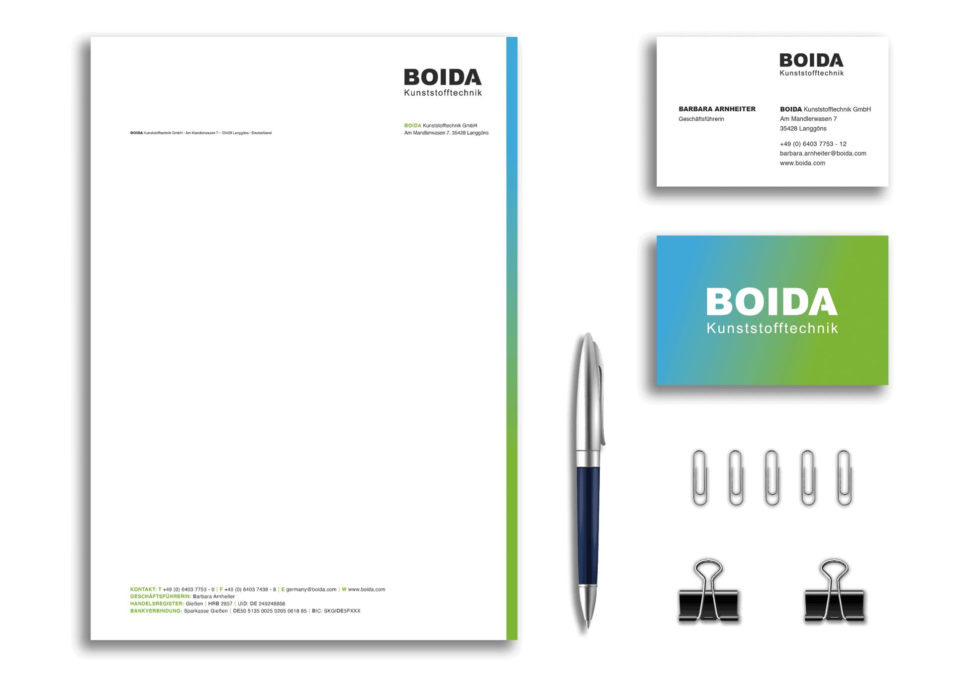 Corporate Design Boida Agentur Frankfurt