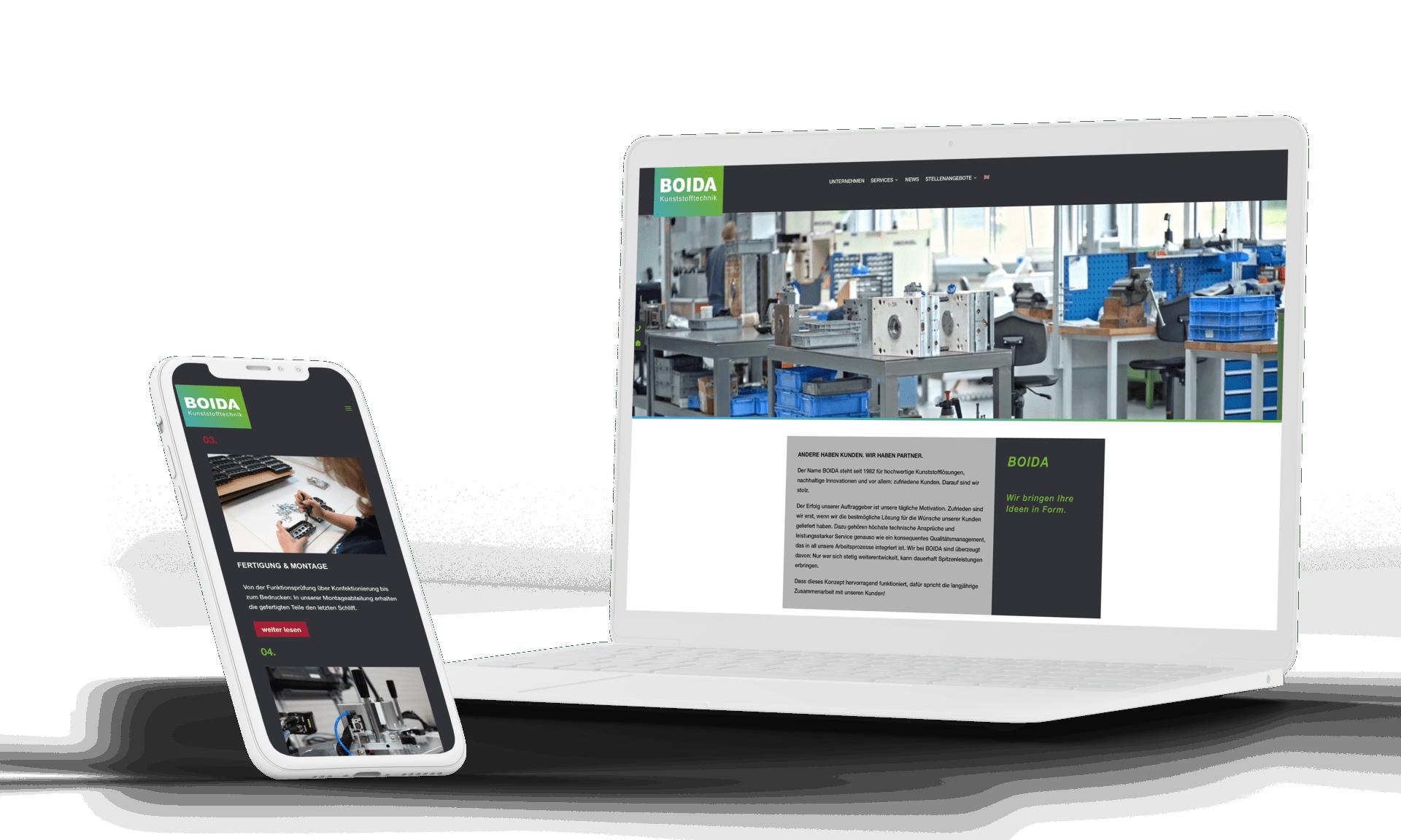 Webdesign Boida von formwandler interactive Webagentur