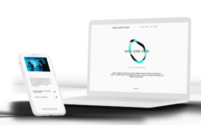 Webdesign für Agentur MAKE SOME NOISE