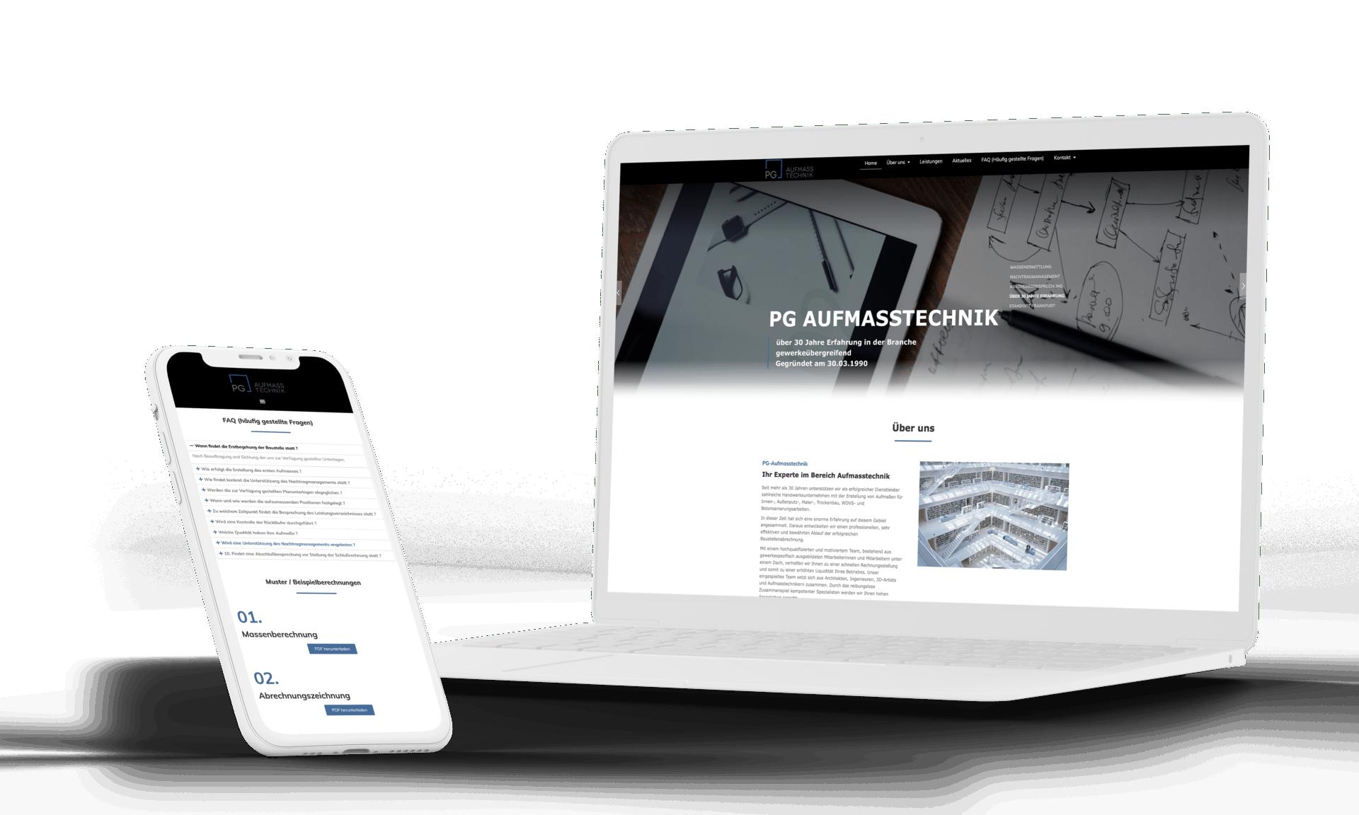 Webdesign Frankfurt: formwandler interactive entwickelt moderne Aufmaß Homepage