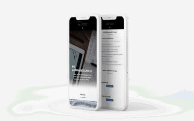 Webdesign für Aufmasstechnik