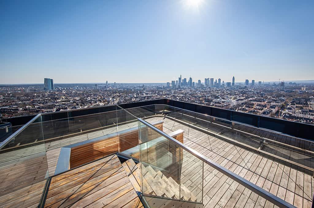 Skylineblick bei rooftop events