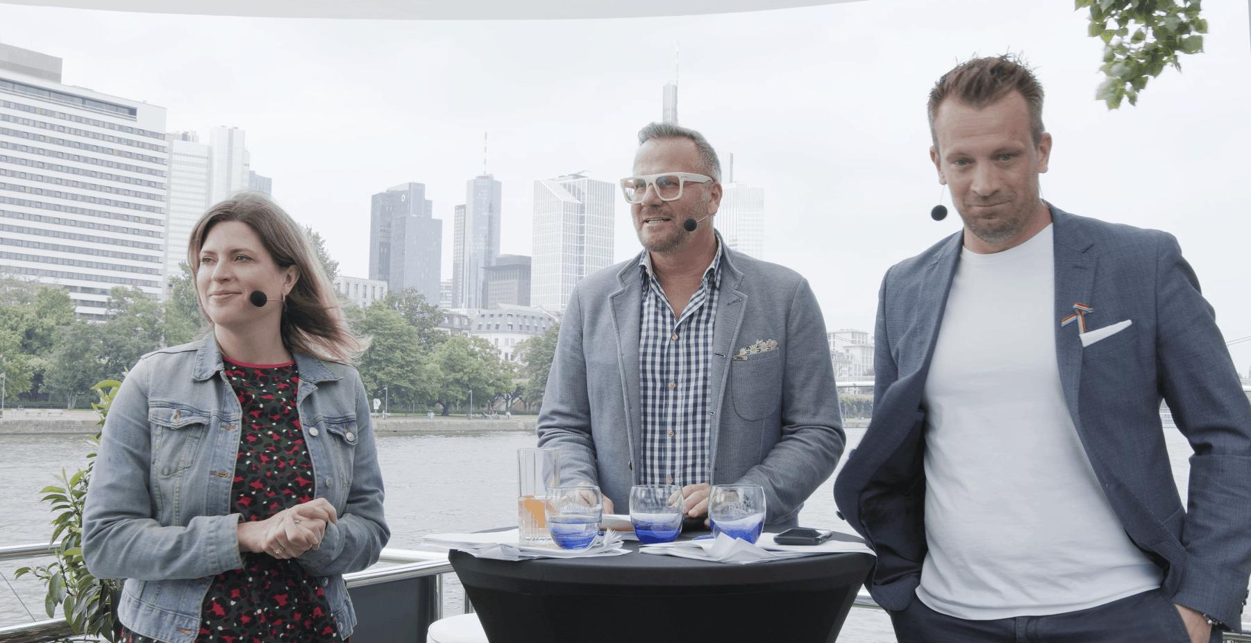 Live Stream auf einem Hausboot in Frankfurt