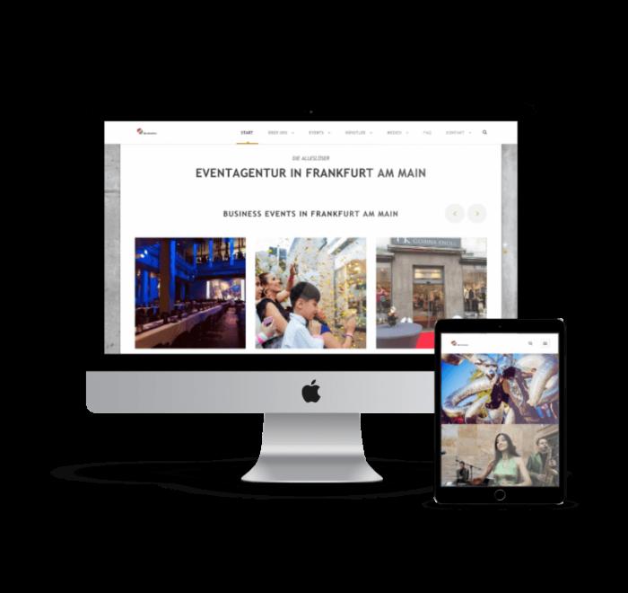 webdesign agentur frankfurt - eventagentur homepage