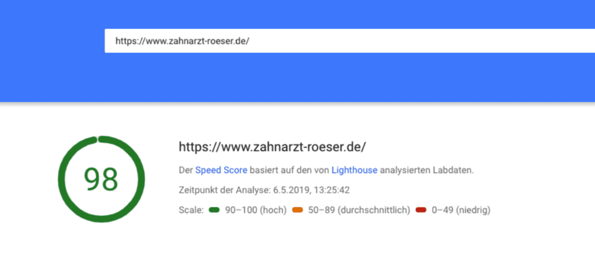page speed optimierung