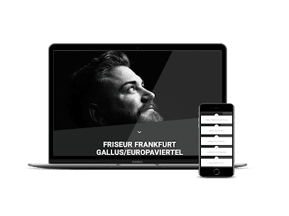 Webdesign Friseursalon Frankfurt Marco Dupre Mockup