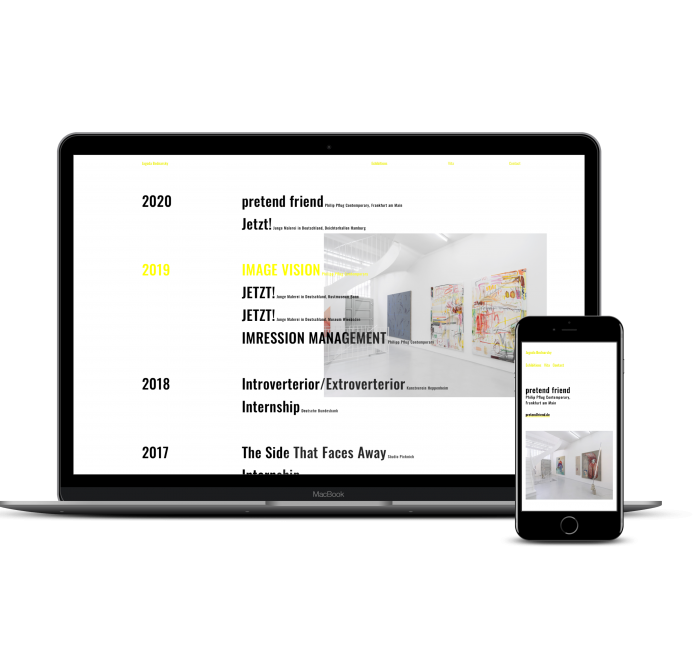 Webdesign Frankfurt Künstler Homepage Jagoda Bednarsky