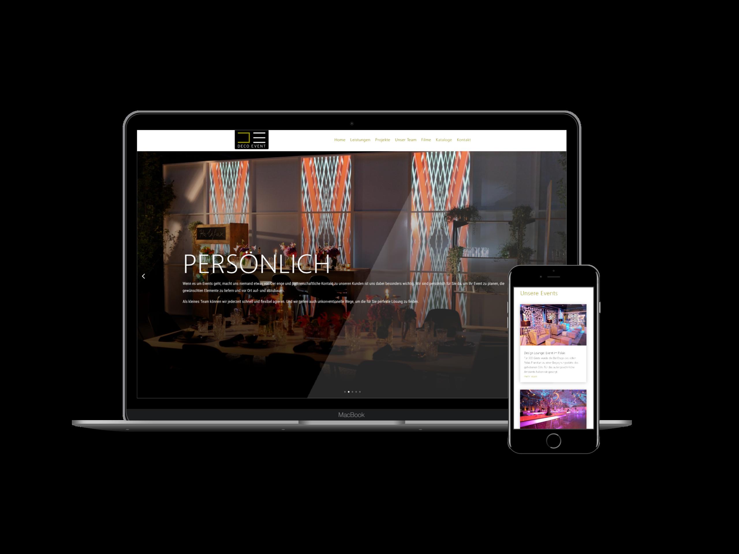 Webdesign Eventverleih Frankfurt