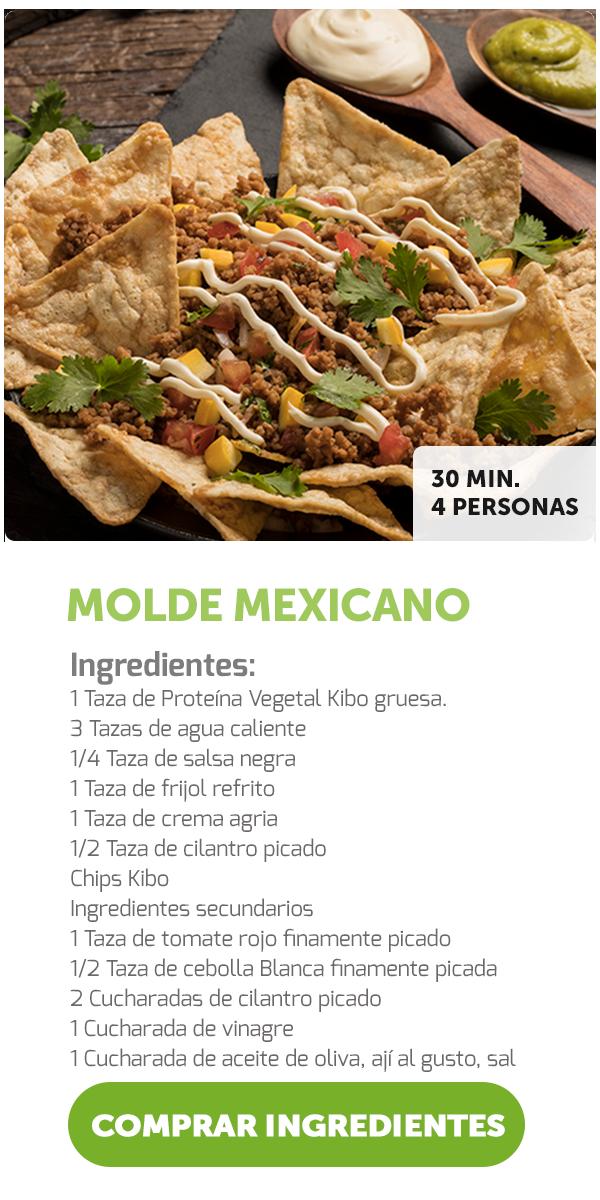 Molde mexicano una deliciosa receta de fácil preparación