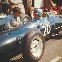 Roy Salvadori tijdens Formule 1
