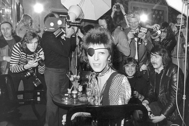 Popster David Bowie in Amsterdam