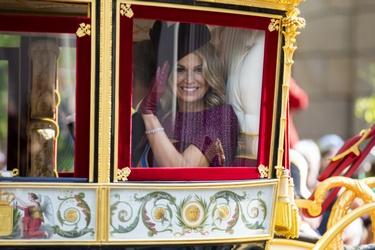Koningin Máxima in de Glazen Koets tijdens Prinsjesdag
