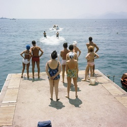 Waterskiërs in Cannes