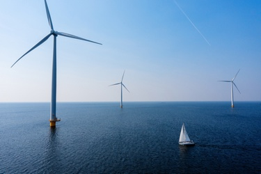 Windmolens in IJsselmeer