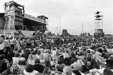 Publiek op het Holland Pop Festival